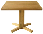 Linear Pedestal Table – Teak Outdoor Patio Furniture