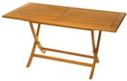 Rectangular Folding Teak Table