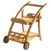 Cornwall Serving Cart – Teak Accessories
