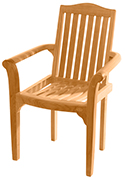 Resto Stacking Chair – Teak Patio Furniture