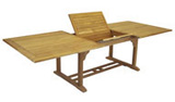 Rectangular Dining Teak Table with Extension - Dallas