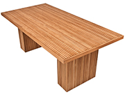 Linear Line Dinning Teak Table
