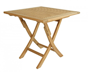 AspenTeak – Square Folding Table