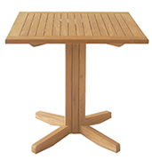 Square Pedestal Table – Teak Furniture